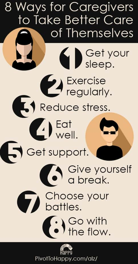 8 Ways for Caregivers to Take Better Care of Themselves - long #PivotToHappy