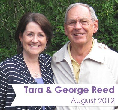 Author Tara Reed with her dad, George Reed