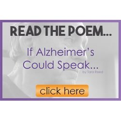link to read the poem If Alzheimer's Could Speak…